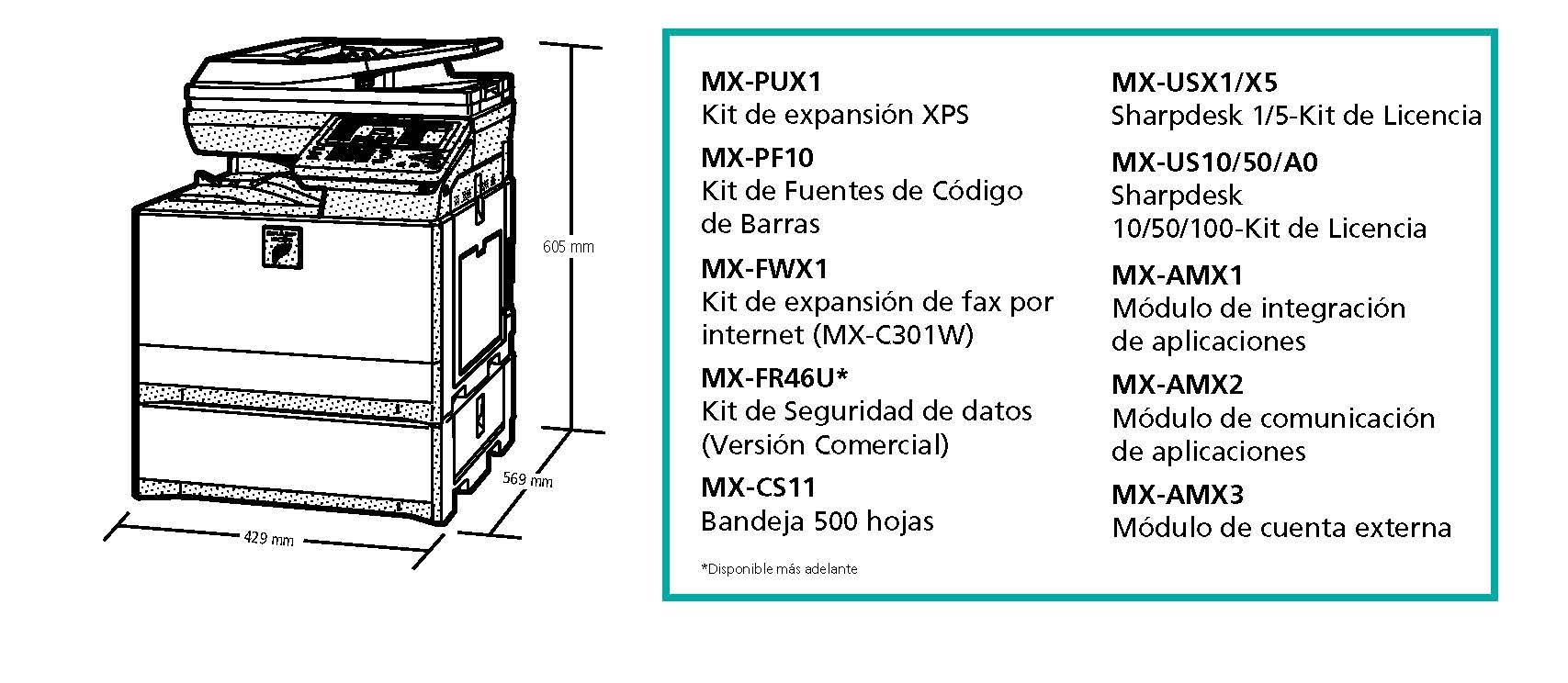 Accesorios MXC301W