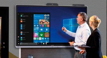 Sharp presenta la primera pantalla interactiva del mercado certificada por Microsoft